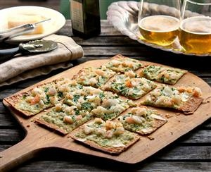 Thin Crust Shrimp Scampi Pizza ~ If you're a Trader Joe's fan, you'll LOVE this one!: Fun Recipe, Shrimp Scampi, Yummy Food, Food And Drinks, Delicious Recipe, Scampi Flatbread, Crusts Shrimp, Scampi Pizza, Thin Crusts
