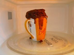 Five Minute Chocolate Mug Cake ( recipe from CWA President in the South West, Maggie Donaldson)