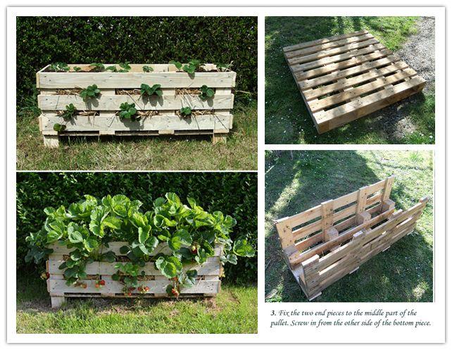 M S De 25 Ideas Incre Bles Sobre Pallett Planter En Pinterest Strawberry Planters Diy