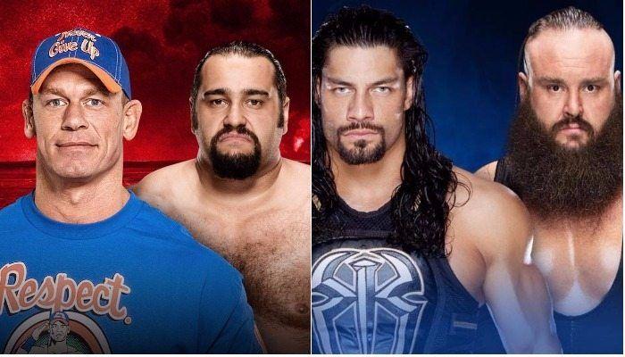 WATCH: WWE had table spots on both shows Saturday Night, John Cena vs Rusev & Roman Reigns vs Braun Strowman