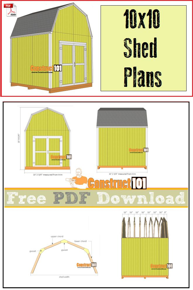 1000 ideas about shed floor plans on pinterest shed for Tiny house floor plans 10x12