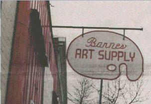 Barne's Art Supply in Kensington our orginal store oh so long ago! #kensington #yyc #yyc