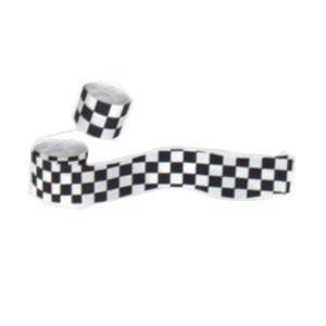"""Checkered Flag Crepe Streamer (2.5"""" x 30')"""