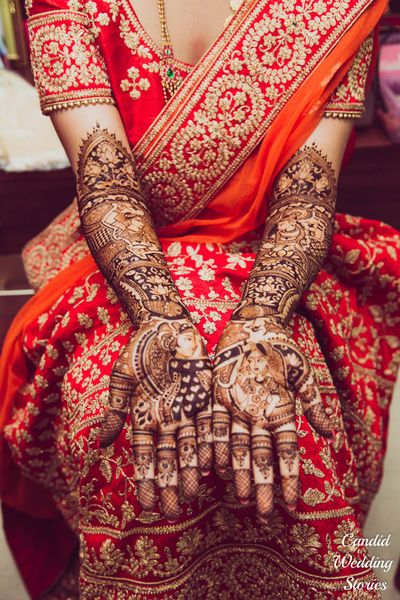 Mehendi design with story