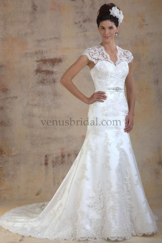 Venus Bridals Lace Bridalgown Modest