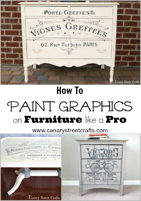 We're sharing all our secrets for painting gorgeous furniture graphics! {Canary Street Crafts}