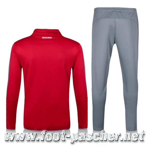 Contrefacon Survetement Club Foot Pas Cher Arsenal Enfant Rouge/Gris 2016 2017 Thailande