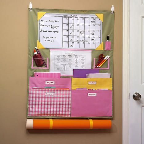 Over the door homework organizer nanny pinterest for New home construction organizer