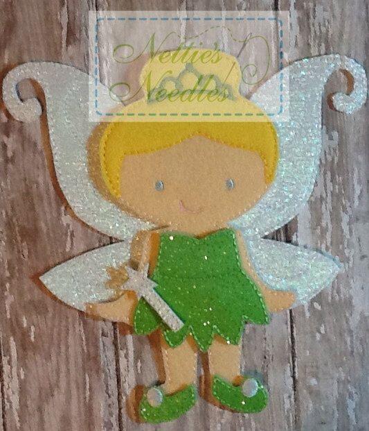 Tinker Bell Peter Pan Felt Doll Outfit by NettiesNeedlesToo, $9.00