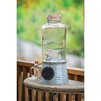 Mason Jar Beverage Dispenser with Galvanized Stand - Sam's Club