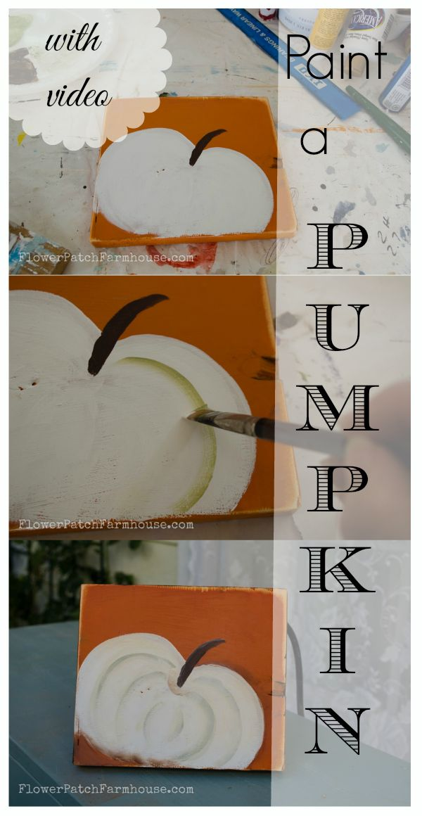 learn to paint a pumpkin, fast and easy