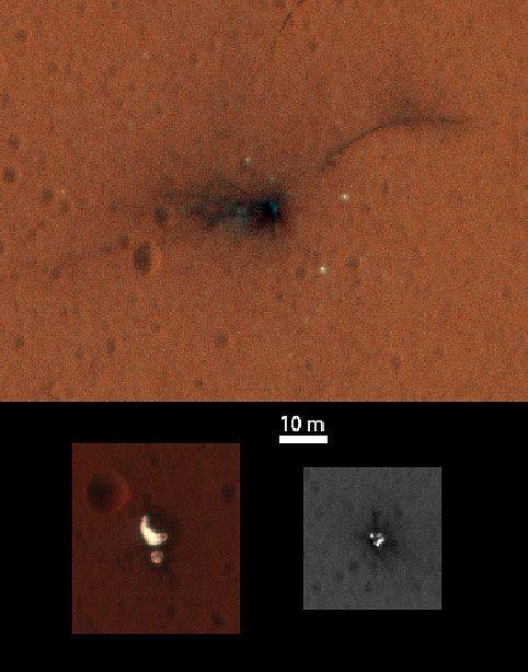 Erste Farbbilder vom Absturzort der Esa-Sonde Schiaparelli - Mission ExoMars - derStandard.at › Wissenschaft