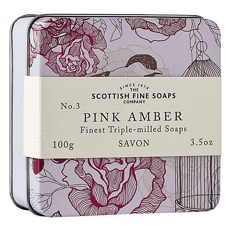 Scottish Fine Soaps Soap In A Tin Pink Amber #mothersday #JohnLewis