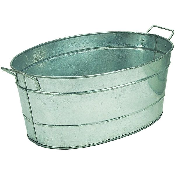 oval galvanized steel tub