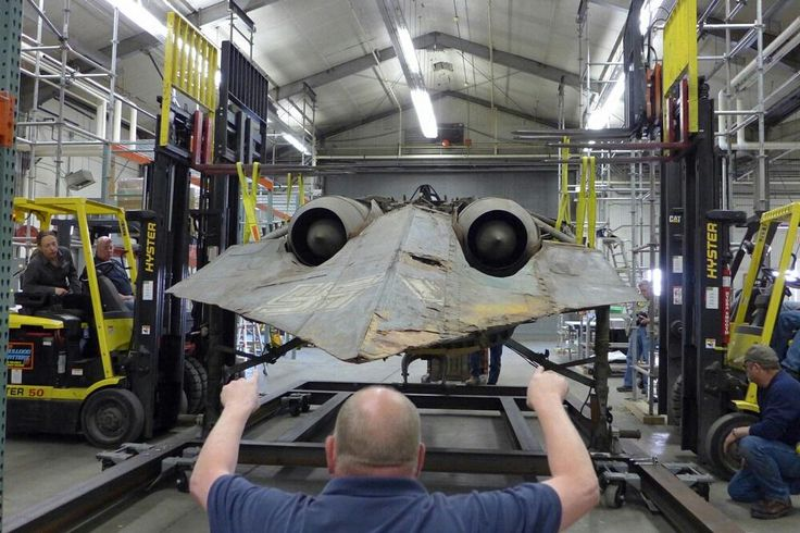 The only surviving Ho 229 - German WW2 aircraft, the first pure flying wing powered by jet engines. 1944.