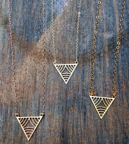 Triangle Necklace by K. Michael