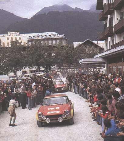 Lancia Fulvia HF presentation in San Martino di Castrozza opening day - 1975