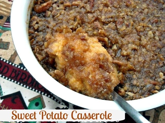 Mommy's Kitchen - Country Cooking & Family Friendly Recipes: Sweet Potato Casserole for Thanksgiving.