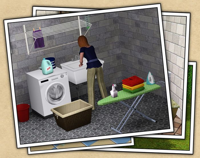 Yep, your Sims can do domestic labor...or hirer a maid of butler to get the job done...