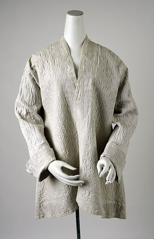 Dressing jacket Date: 1725–50 Culture: British Medium: linen