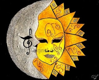 Venetian mask: Moon's kiss