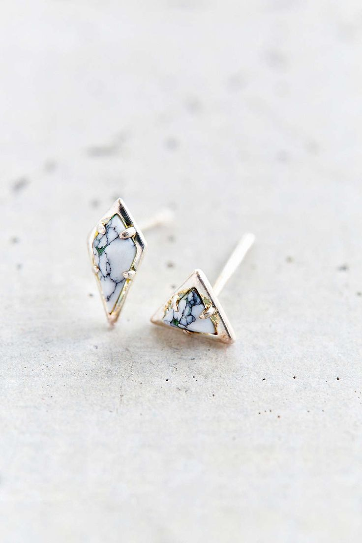 Rad Marble Stud Earring Set - Urban Outfitters