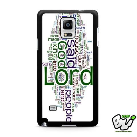 Abstract Word Art Samsung Galaxy Note 4 Case
