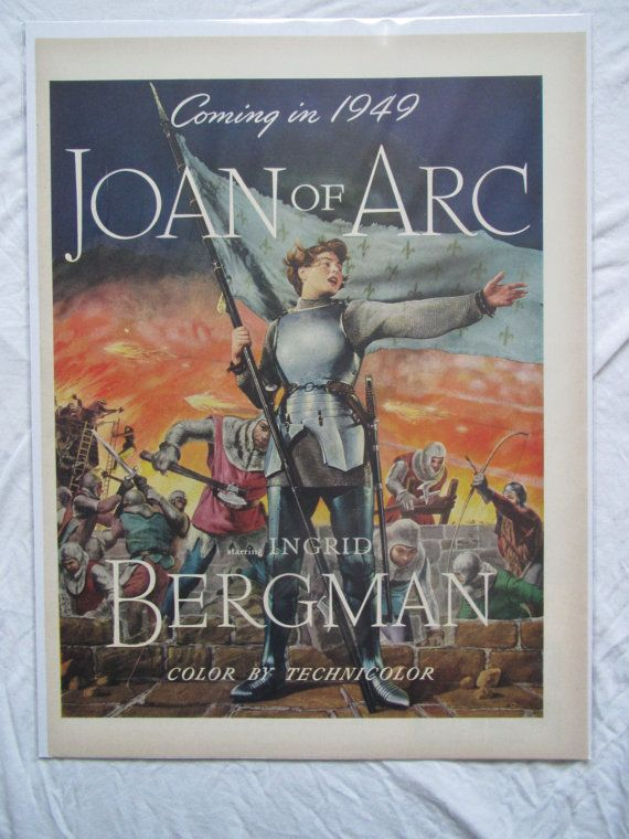 Vintage Joan of Arc Movie Advertisement by Retrolane91 on Etsy, $7.00