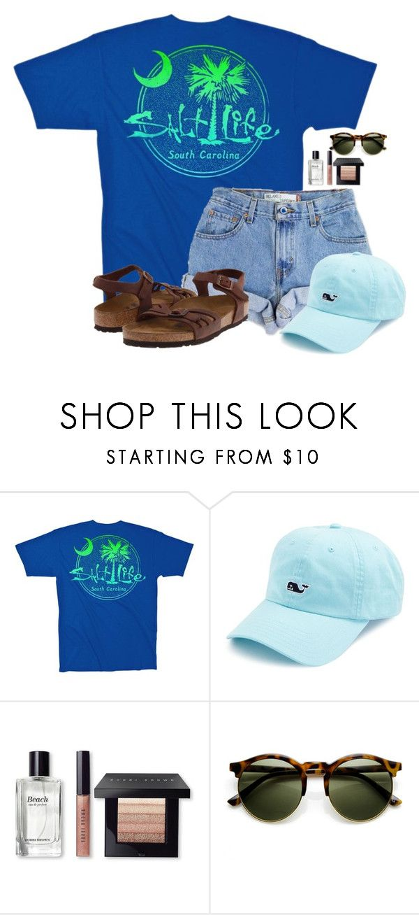 """Spring Break starts right after school!!"" by flroasburn on Polyvore featuring Salt Life, Levi's, Vineyard Vines, Bobbi Brown Cosmetics and Birkenstock"