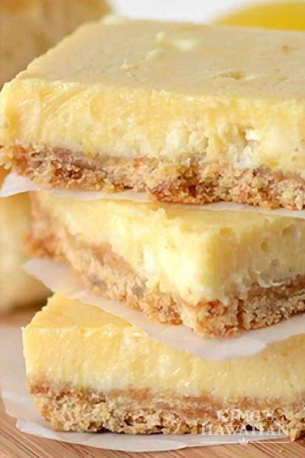 Our love language is dessert. Lemon White Chocolate Bars with King's Hawaiian Crust are the perfect Valentine's Day card.