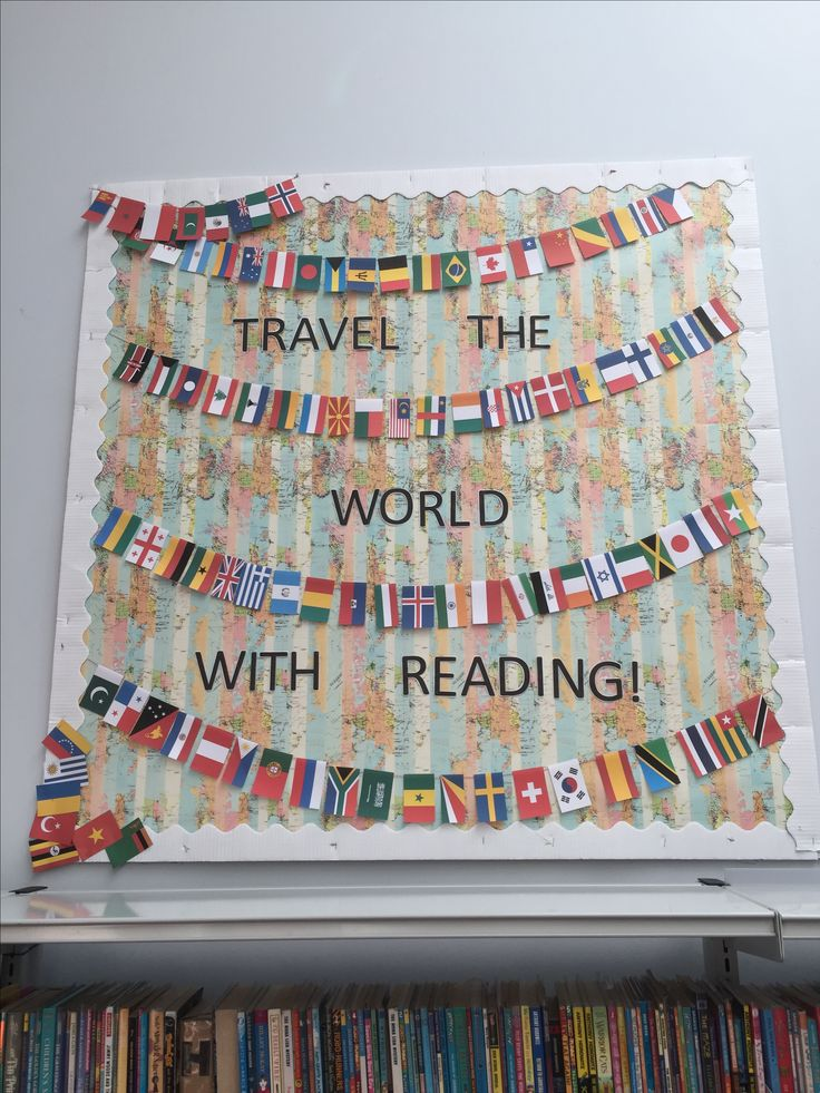 'Travel the World with Reading' Library Display