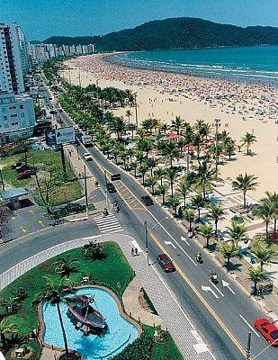 Praia Grande City in São Paulo, Brasil