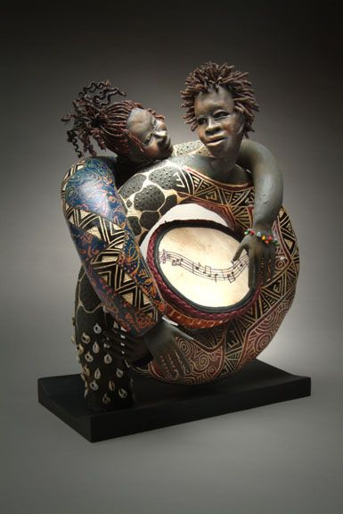 Spirit of L.A. Patricia C Boyd  in a class of her own   One of my favorite Gourd artists!