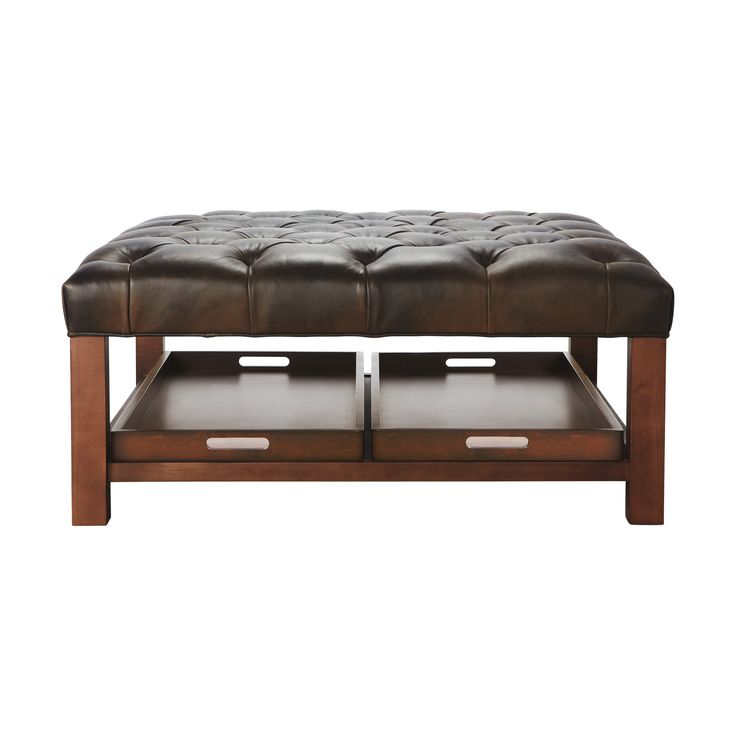modern wood coffee table reclaimed metal mid century round natural diy padded large leather storage ottoman