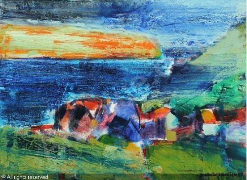 HEINESEN Zacharias,Landskab, Færøerne,