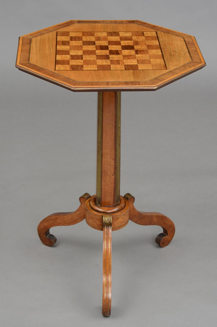 Antique English Regency Unusual And Striking Satinwood Rosewood Yew Pedestal Games Table With