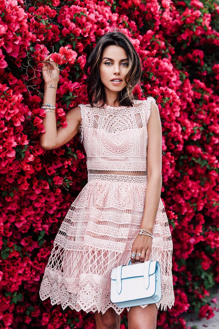 Perfect for summer! Gorgeous lace crochet dress that looks like a two piece crop top skirt set.