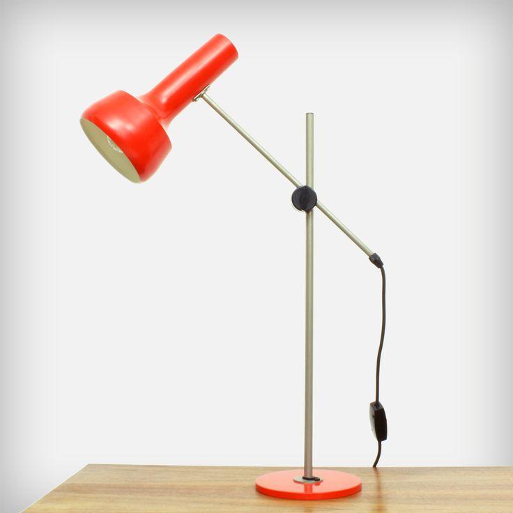 Red-Orange Desk Lamp by LAD Team for Swisslamps International   Made in Switzerland   MID-CENTURY furniture, art & accessories :: We ship worldwide! www.goodoldvintage.de