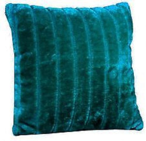 Faux Fur Teal Cushion Cover – Linen and Bedding