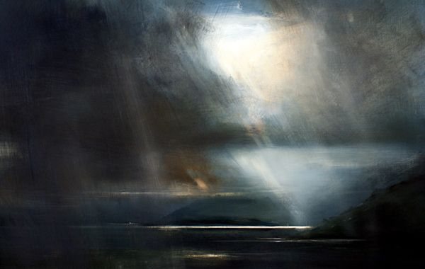 Oban Crossing - Oil on Board - Zarina Stewart-Clark, Landscape Artist