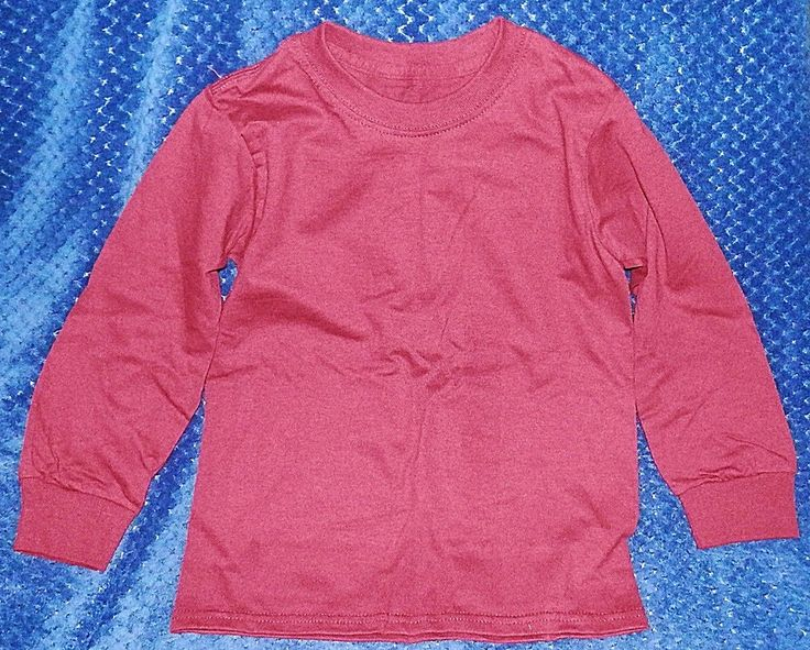 Boys XS 4/5 Fruit of the Loom Red Long Sleeve Shirt #FruitoftheLoom #Everyday