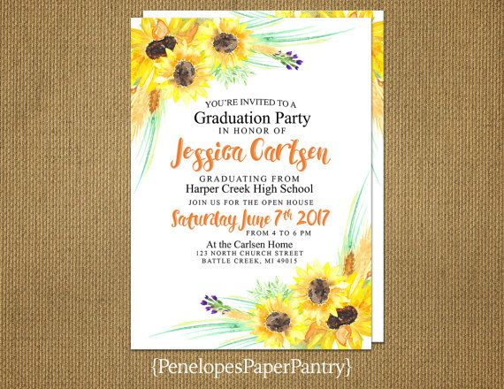 Penelopes Paper Pantry is proud to present our collection of 2017 Custom Graduation Announcements, Open House Invitations and Going Away Party Invitations.  The invitations are $1.00 each for front side printing and $1.50 each for printing on both sides. The price includes envelopes. Customizing is FREE. Backside printing may include a continuation of the design on the front, up to four additional photos, future plans, favorite Bible verse, favorite saying, logo, directions, or a thank you…