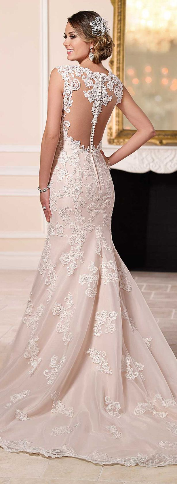 Best 25 blush wedding dresses ideas only on pinterest for Cream colored lace wedding dresses