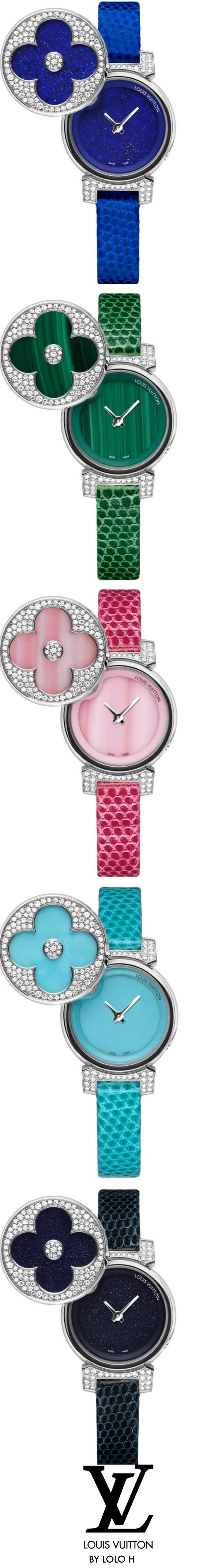 Louis Vuitton Tambour Bijou Secret Watches.♥✤ Coz Shopping Queens Need A Diff Color For Every Day Of The Week!