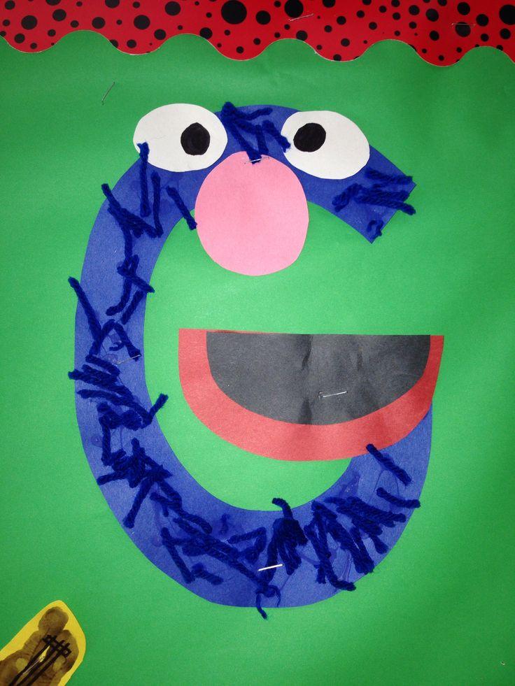 Letter G Grover Preschool Craft Letter G Crafts Pinterest