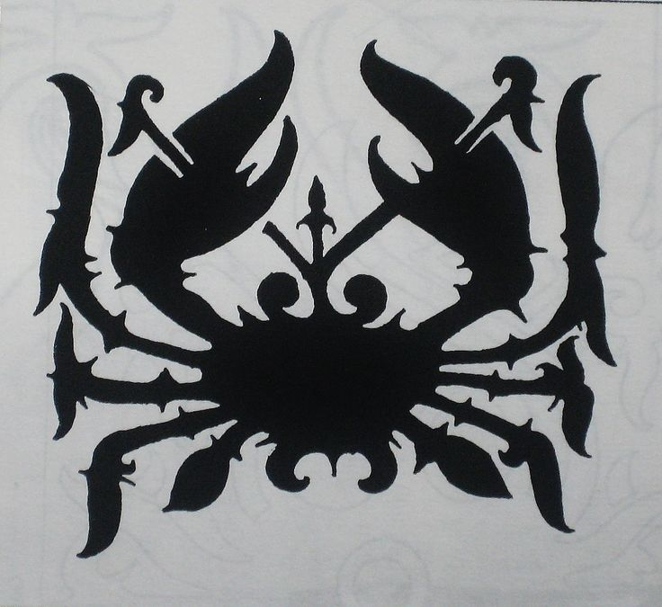 traditional Borneo tatoo design : Crab