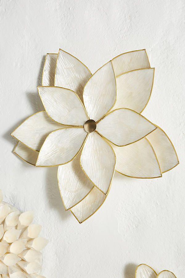 New Capiz Wall Flower Flower Wall Wall Art Uk Wall Art Decor