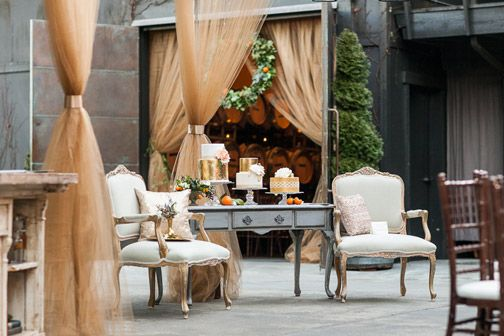Seating area rentals from Vintage Ambiance at JM Cellars coordinated by MG Davis Events during Weddings in Woodinville 2014. Photography by The Popes
