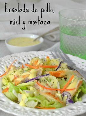 Cuuking!: Ensalada de pollo, miel y mostaza // chicken salad with honey mustard dressing