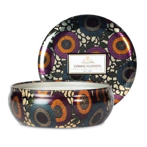 Voluspa - Crane Flower - 3 Wick Candle in Tin